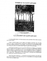 LEGENDE + PRIERE ST LEONARD